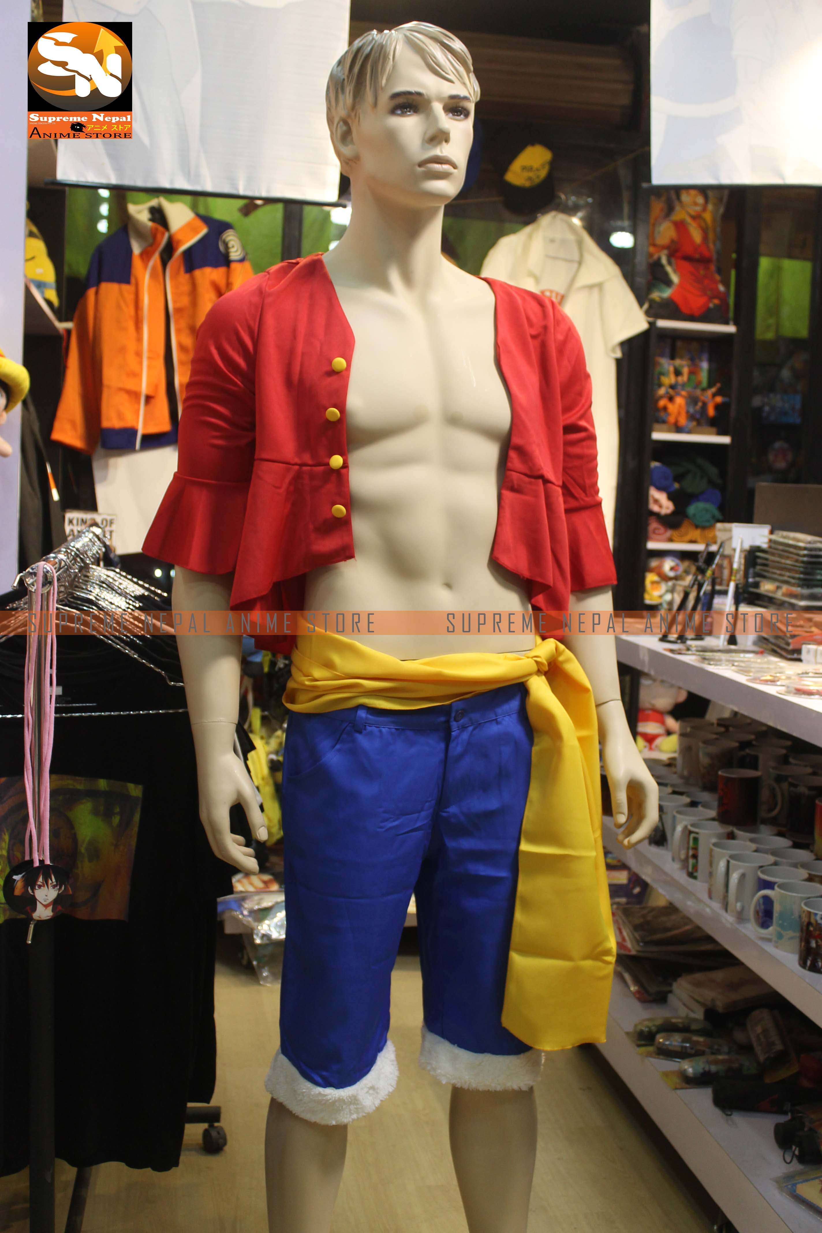 One Piece Luffy Cosplay Dress (Full) - Anime Store
